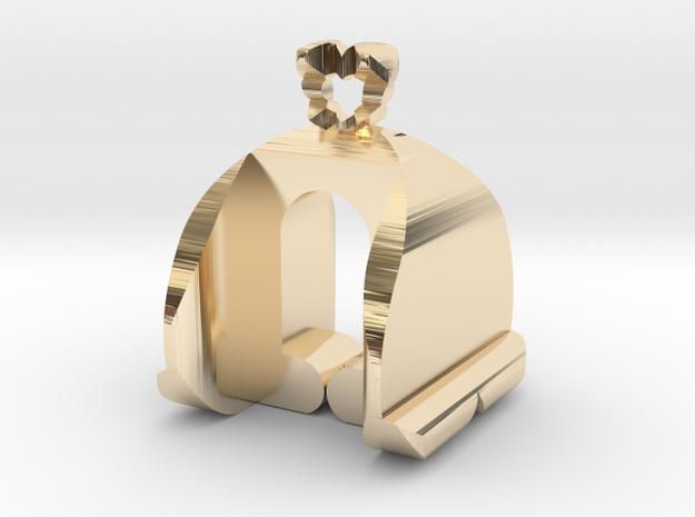 I♥U Shape 2 - Customizable in 14K Yellow Gold