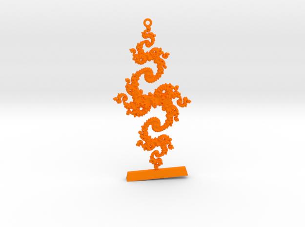 Julia Keychain 1 LP Custom in Orange Processed Versatile Plastic