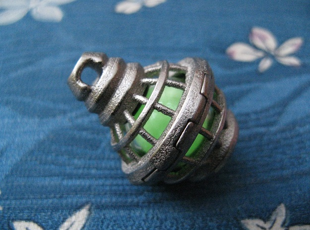 Tritium Sphere Cage 1 (Stainless Steel) 3d printed
