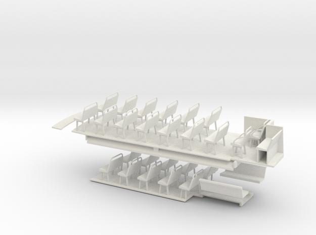 1:43 London Transport STL11 -Floors & Seats in White Natural Versatile Plastic