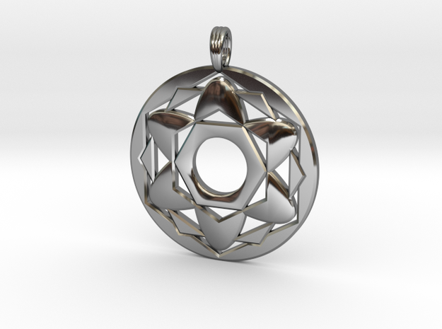 ALYSSA'S CHARM in Fine Detail Polished Silver