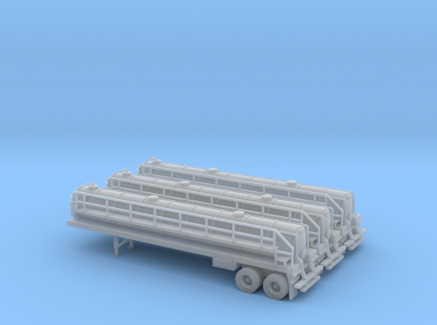 N scale 1/160 Crude oil trailer, Troxell 130 x3 in Smooth Fine Detail Plastic