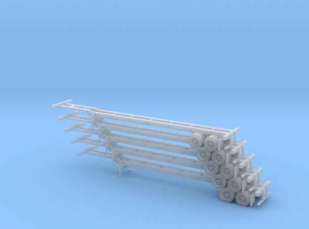 N 48' Container Chassis Stack #1 in Smooth Fine Detail Plastic