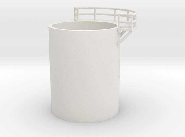 'N Scale' - Distillation Tower - Middle Right in White Natural Versatile Plastic