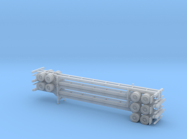 N 53' Container Chassis Stack #2 in Smooth Fine Detail Plastic