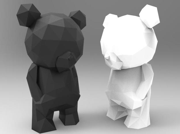 Thinking Teddy Bear  in White Strong & Flexible