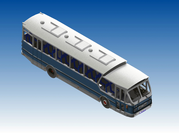 Leyland LOB semitour bus Schaal N (1:160) in Frosted Ultra Detail