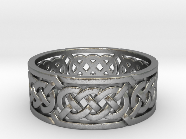 Celtic Treble Knot Ring in Raw Silver