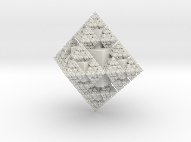 Snowflake Fractal in White Strong & Flexible