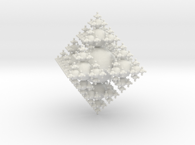 3D Fractal out of Spheres in White Strong & Flexible