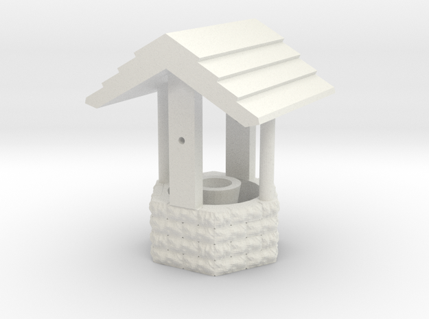 Wishing Well - HO 87:1 Scale in White Natural Versatile Plastic