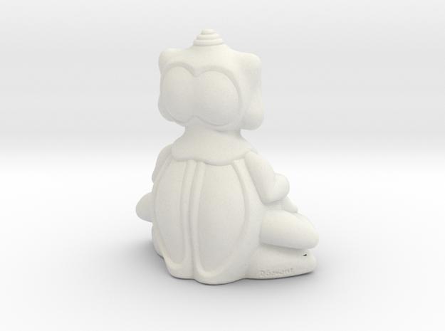 BBUDA STL 5 in White Natural Versatile Plastic