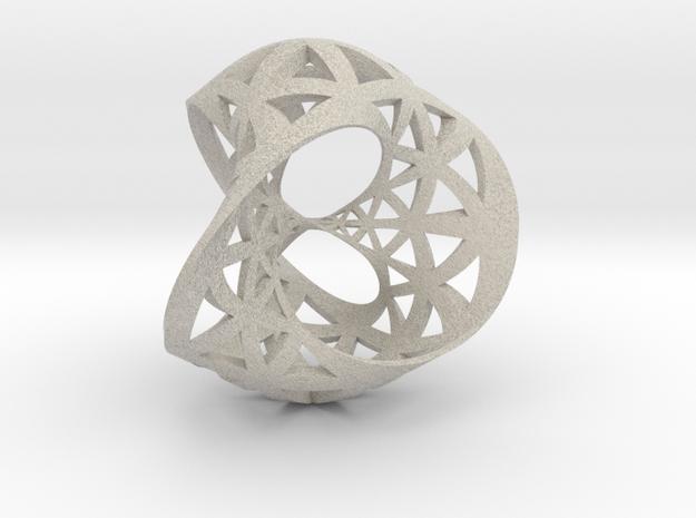 Seifert surface for (3,3) torus link 3d printed