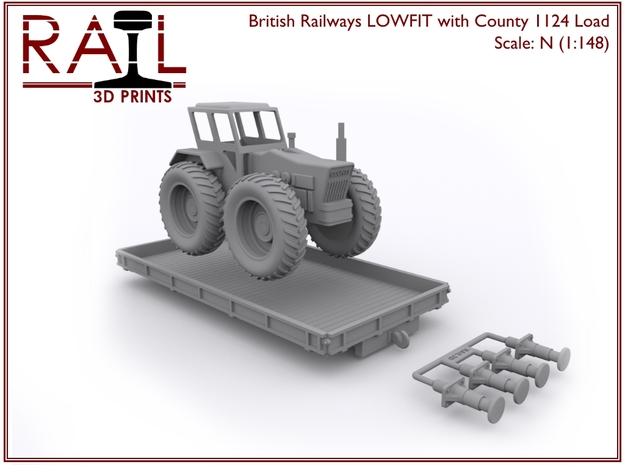 N Scale LOWFIT With County 1124 in Smooth Fine Detail Plastic