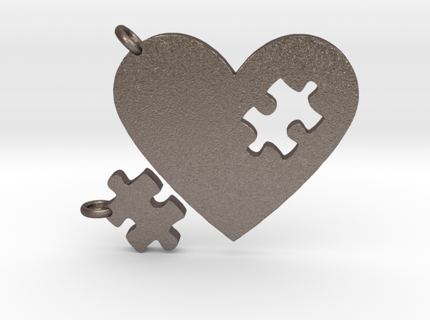 Heart Puzzle Keychains