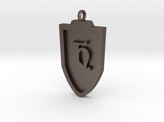 Medieval H Shield Pendant in Stainless Steel