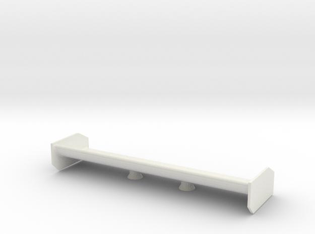 Mosler rear wing in White Natural Versatile Plastic