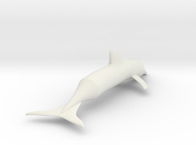 Simple Dolphin Toy or Model in White Strong & Flexible