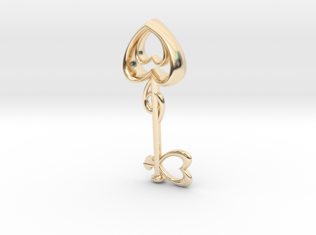 The Heart Key in 14k Gold Plated Brass