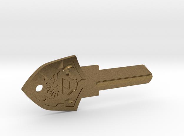Zelda Shield House Key Blank - SC1/68 in Raw Bronze