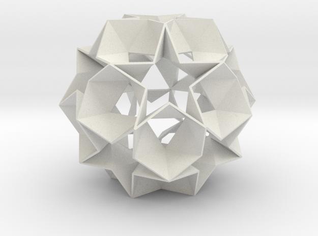 12 Star Ball - 8.4 cm in White Strong & Flexible