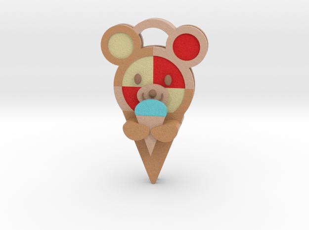Cookie Ice Bear 3d V5 in Full Color Sandstone