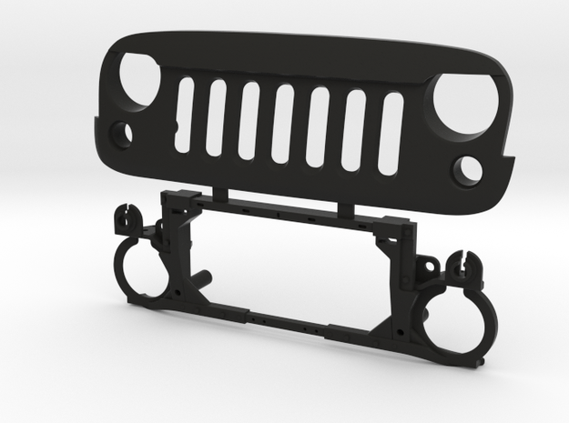 AW10001 Wraith ANGRY eye grill & mount in Black Natural Versatile Plastic