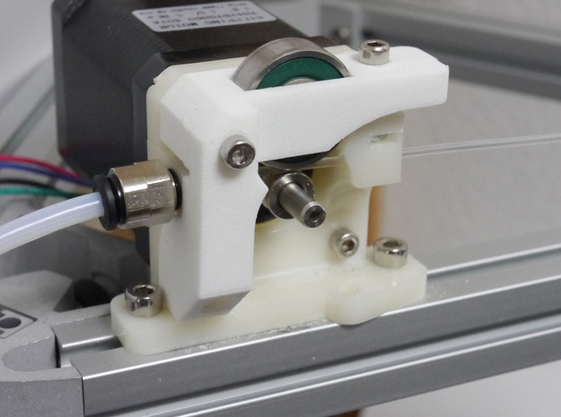 Compact Extruder (Addition) for Shapeways in White Strong & Flexible