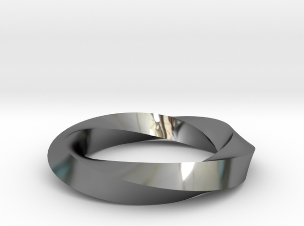 RingSwirl360 in Fine Detail Polished Silver