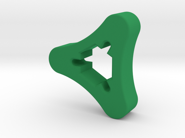 SMA Knob in Green Strong & Flexible Polished
