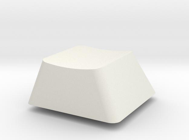 Topre Key - row D in White Natural Versatile Plastic