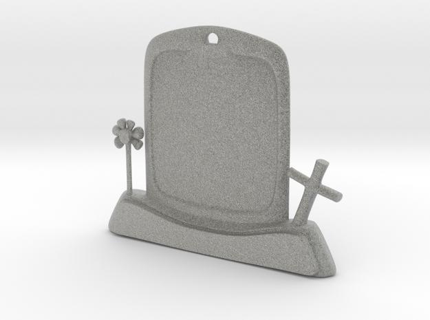 Halloween Keychain/Pendant Tombstone in Metallic Plastic