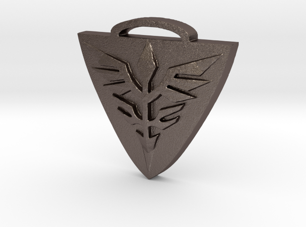 Neo Zeon Keychain in Polished Bronzed Silver Steel