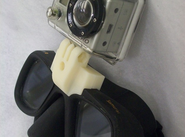 GoPro Goggle Mount- Front Piece 3d printed