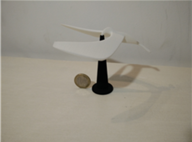 Balancing bird stand in White Strong & Flexible