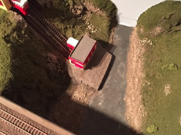 N Scale / N Gauge (1:148) Lower Funicular Station in White Natural Versatile Plastic