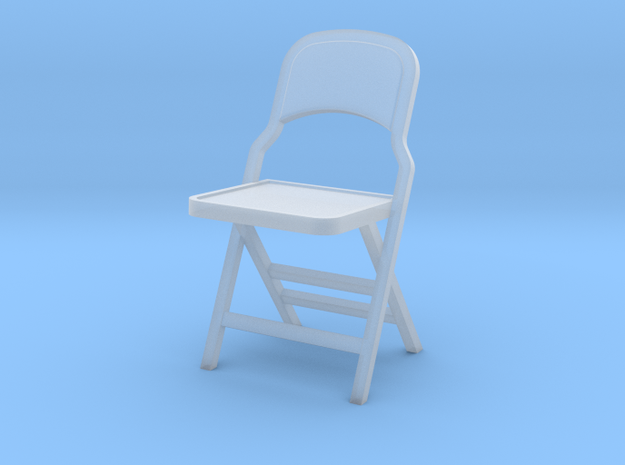 1:24 Vintage Folding Chair in Frosted Ultra Detail