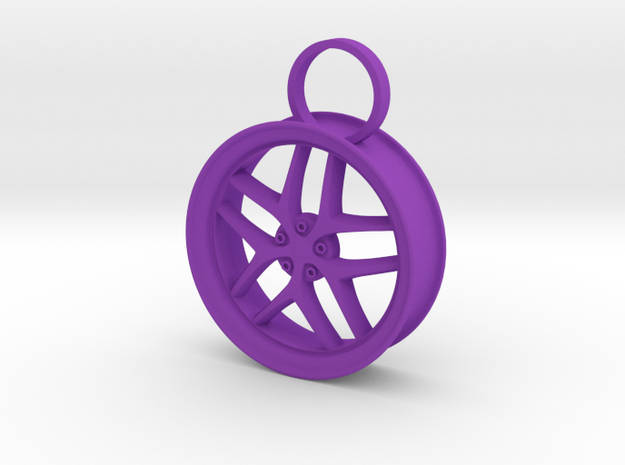 Car Rim in Purple Processed Versatile Plastic