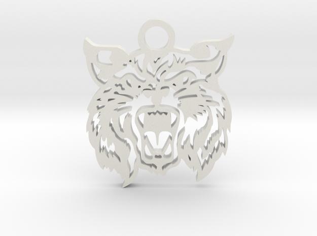 Bobcat amulet in White Natural Versatile Plastic