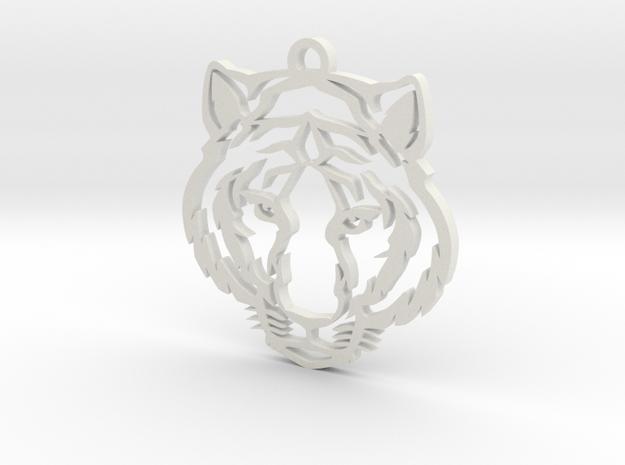 Tiger pendant in White Natural Versatile Plastic