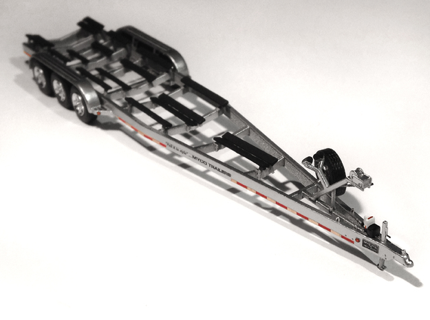 1/87 Myco Trailer 3-axle speedboat-trailer in Frosted Ultra Detail