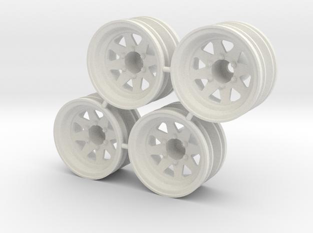 "Rim Wagon Wheel 1/4"" offset - Losi McRC/Trekker in White Natural Versatile Plastic"