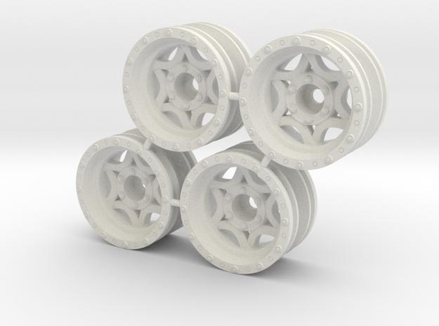 "Rim Walker Evans 1/8"" offset - Losi McRC/Trekker in White Natural Versatile Plastic"