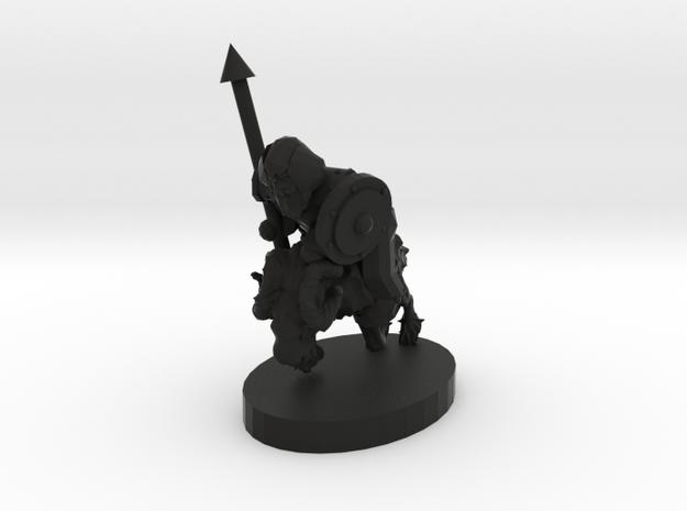 Dwarf Ram Cavalry in Black Natural Versatile Plastic