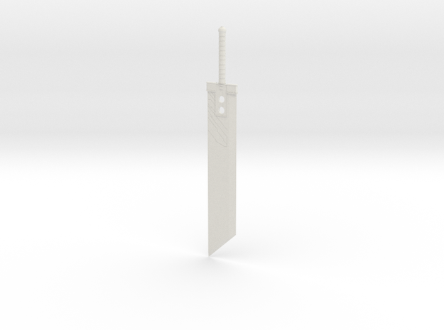 Buster Sword in White Natural Versatile Plastic