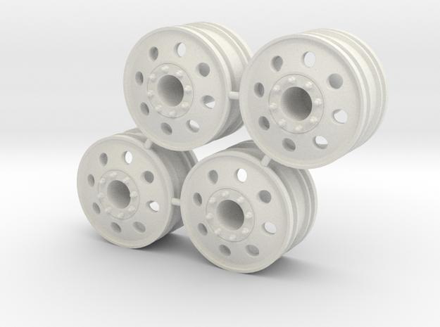 Rim Eagle 4x4 Front Set - Losi McRC/Trekker in White Natural Versatile Plastic