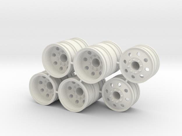 Rim Eagle 6x6 Dually Set - Losi McRC/Trekker in White Natural Versatile Plastic