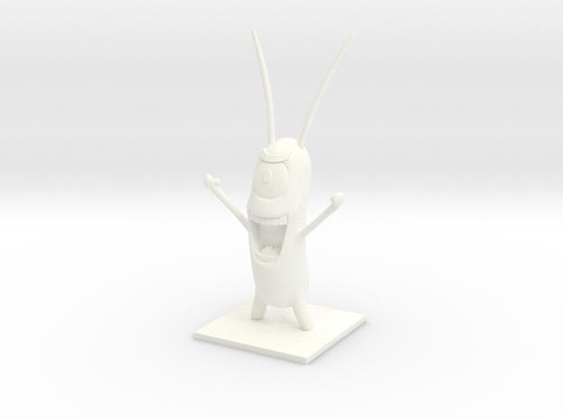 Sheldon Plankton in White Strong & Flexible Polished