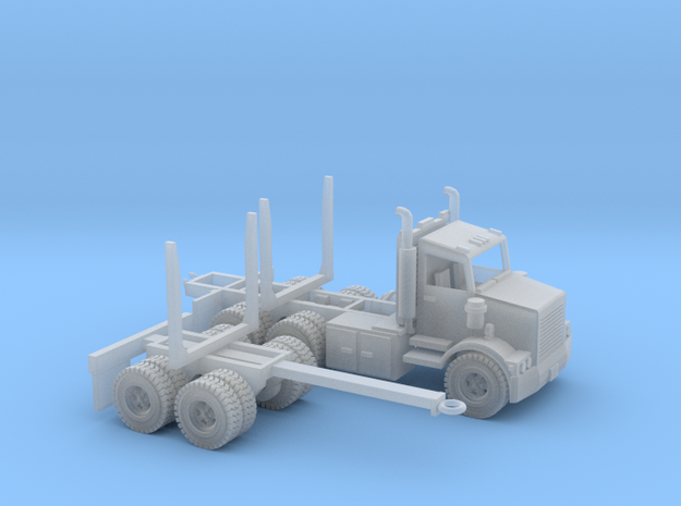 Logging Truck Z Scale in Smooth Fine Detail Plastic