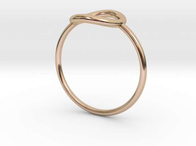Bague Rond in 14k Rose Gold